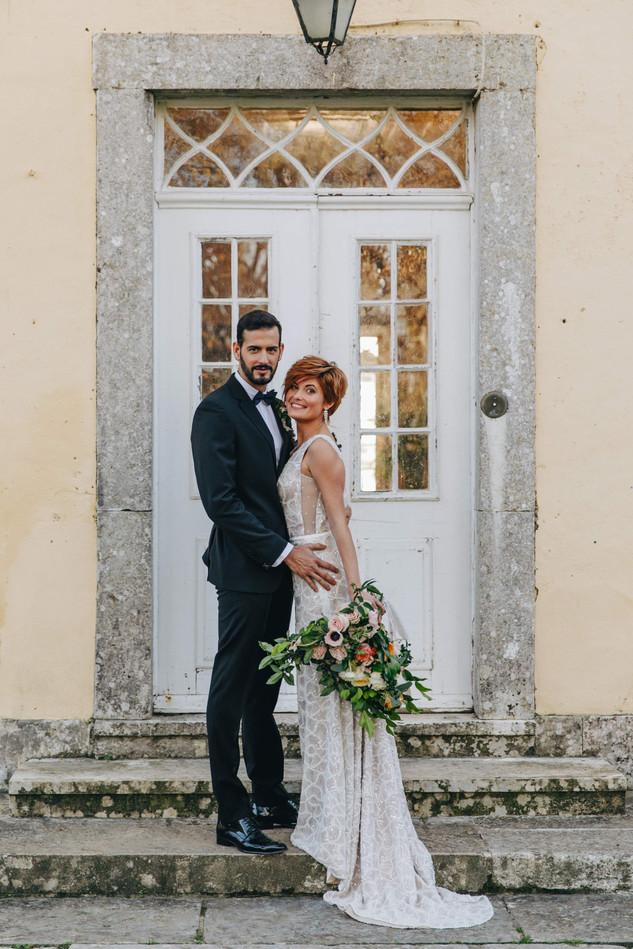 Tuin bruiloft bij Quinta do Torneiro in Lissabon, Portugal
