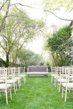 Outdoor wedding ceremony in Lisbon, Portugal