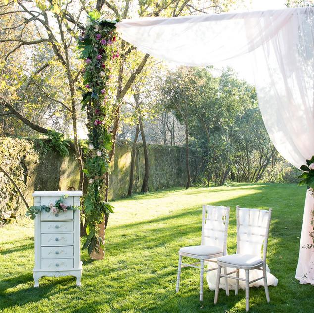 Bruiloft bij Quinta do Torneiro in de Entrance Tuin.