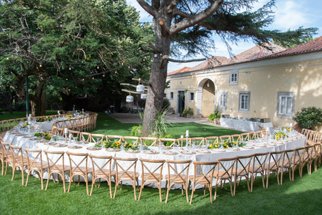 Lange tafel bij Quinta do Torneiro in Lissabon, Portugal