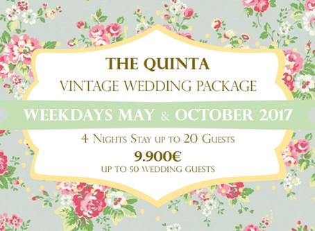 My Vintage Wedding PackagePortugal May and October2017 Weekdays