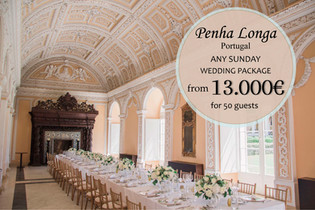 Penha Longa Sunday Wedding Package Portugal 2021 2022