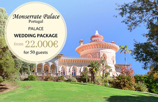 Monserrate Palace Wedding Package in the Palace 2021 2022
