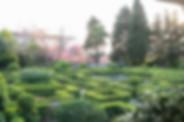 Jardim francês com formato labirinto da Quinta do Torneiro