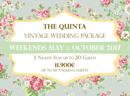 My Vintage Wedding Package Portugal May and October 2017  Weekends