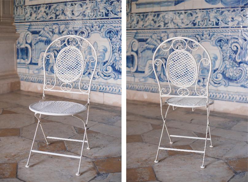 Cadeira Metalica Branca