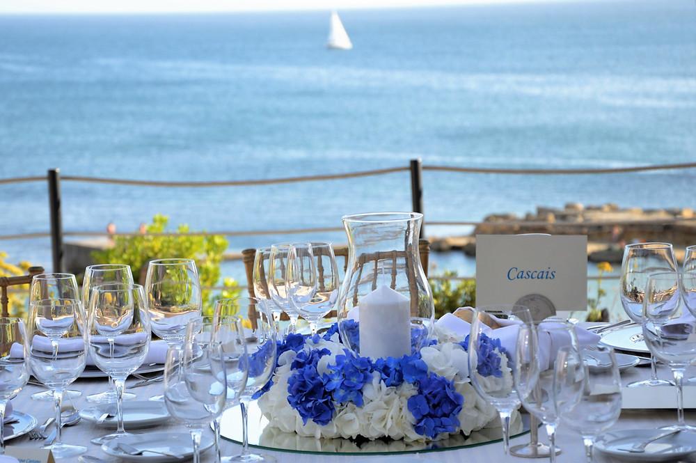Oceanfront Wedding Tables