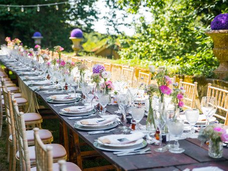 Reception at The Quinta - My Vintage Wedding Portugal: A Perfect Place After Your Beach Wedding