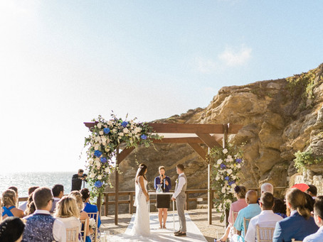 Blue Beachfront Wedding Venue in Portugal