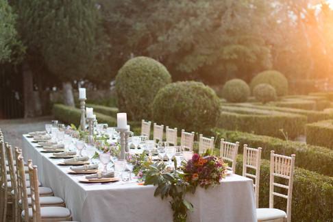 Buiten bruiloft bij Quinta do Torneiro, Lissabon
