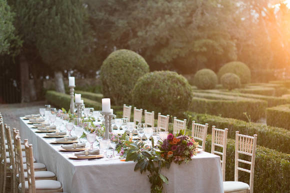 Table at French Garden of QuintadoTorneiro - Destination Wedding Packages are a great option for you