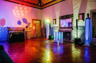 Festa de casamento na Sala da lareira na Quinta do Torneiro