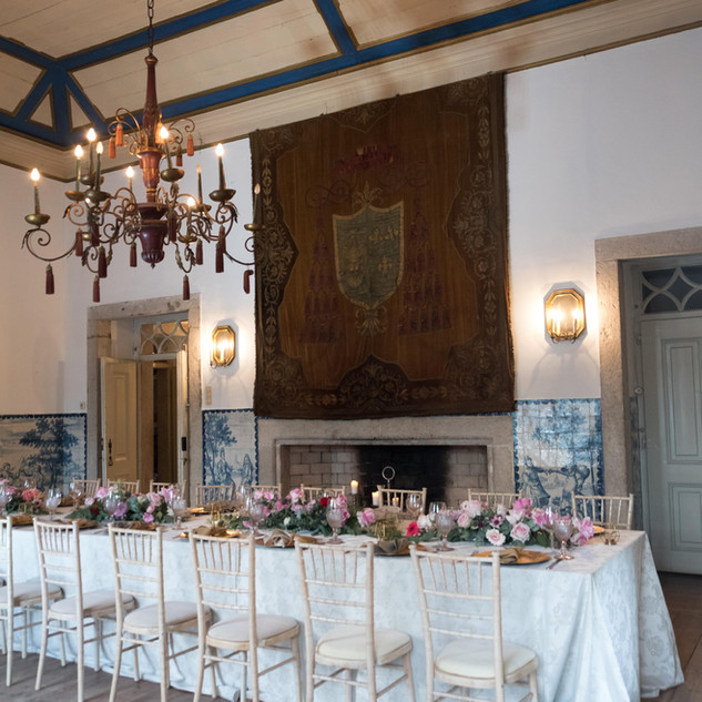 Crest Room for wedding at Quinta do Torneiro in Lisbon, Portugal
