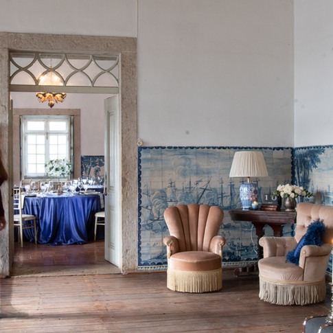 Quinta do Torneiro Wedding Venue with Tiles in Portugal