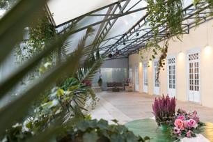 Greenhouse voor evenementen bij Quinta do Torneiro in Portugal