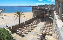 Beach wedding ceremony in Lisbon, Portugal