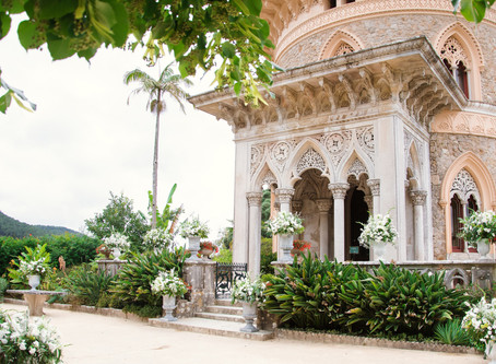 Real Wedding in Monserrate Palace and Pena Palace Sintra Portugal