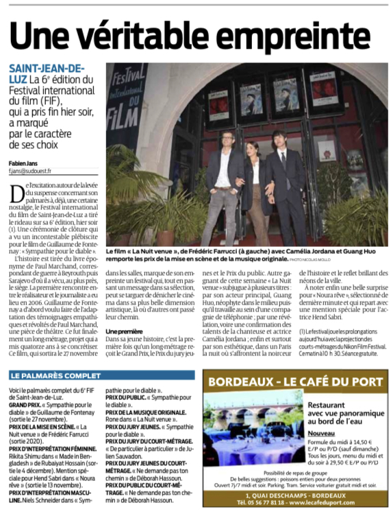 13-10-2019 Sud Ouest