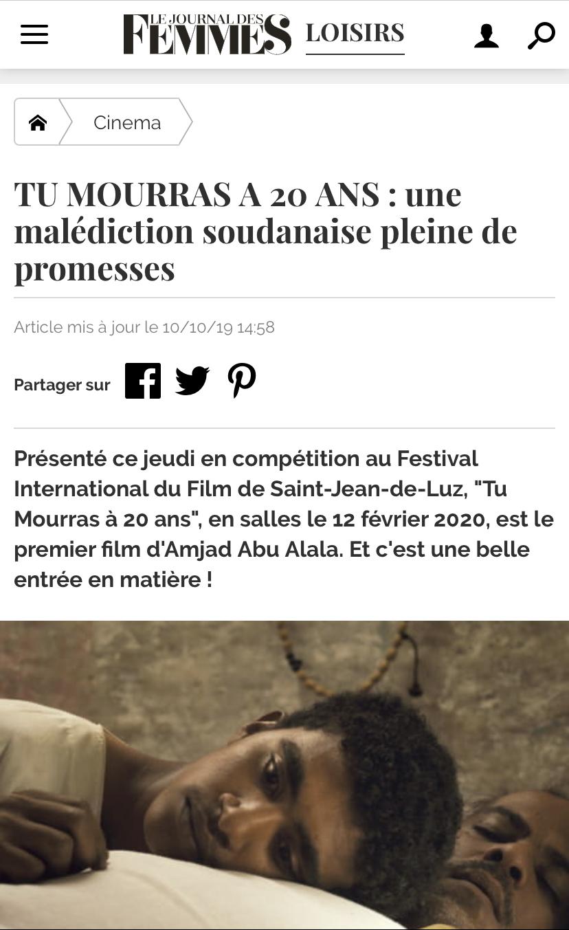 10-10-2019 LE JOURNAL DES FEMMES