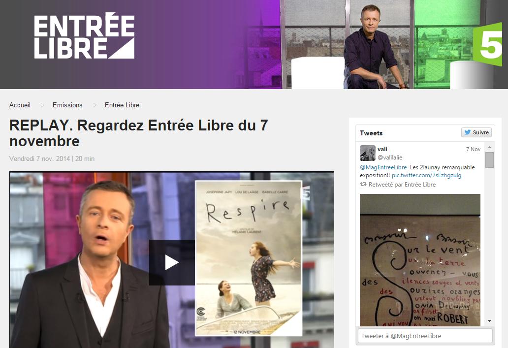 Entrée libre sur France 5