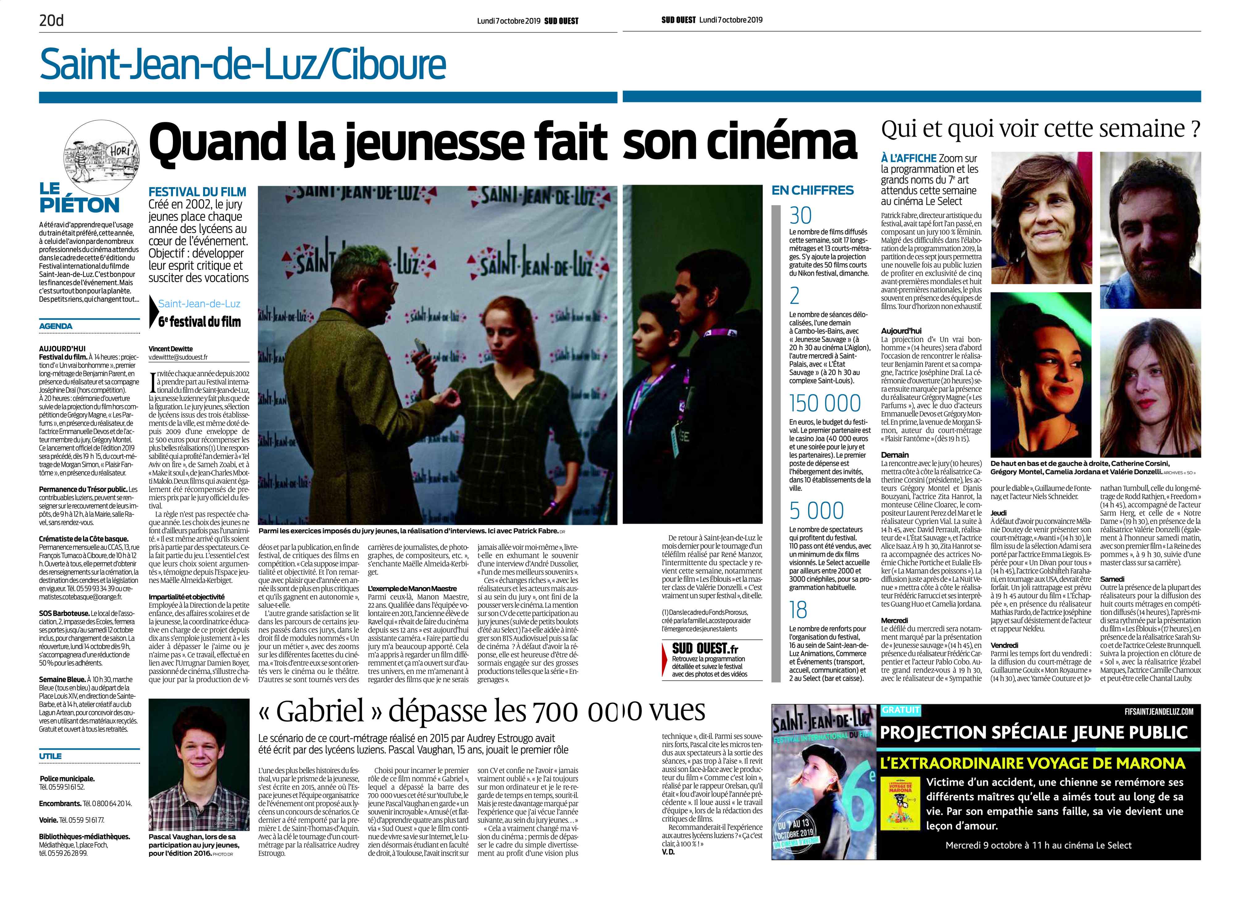 07-10-2019 Sud Ouest Journal