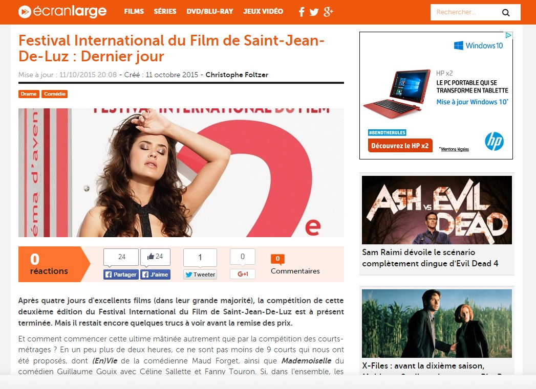 Ecranlarge.com Dernier Jour