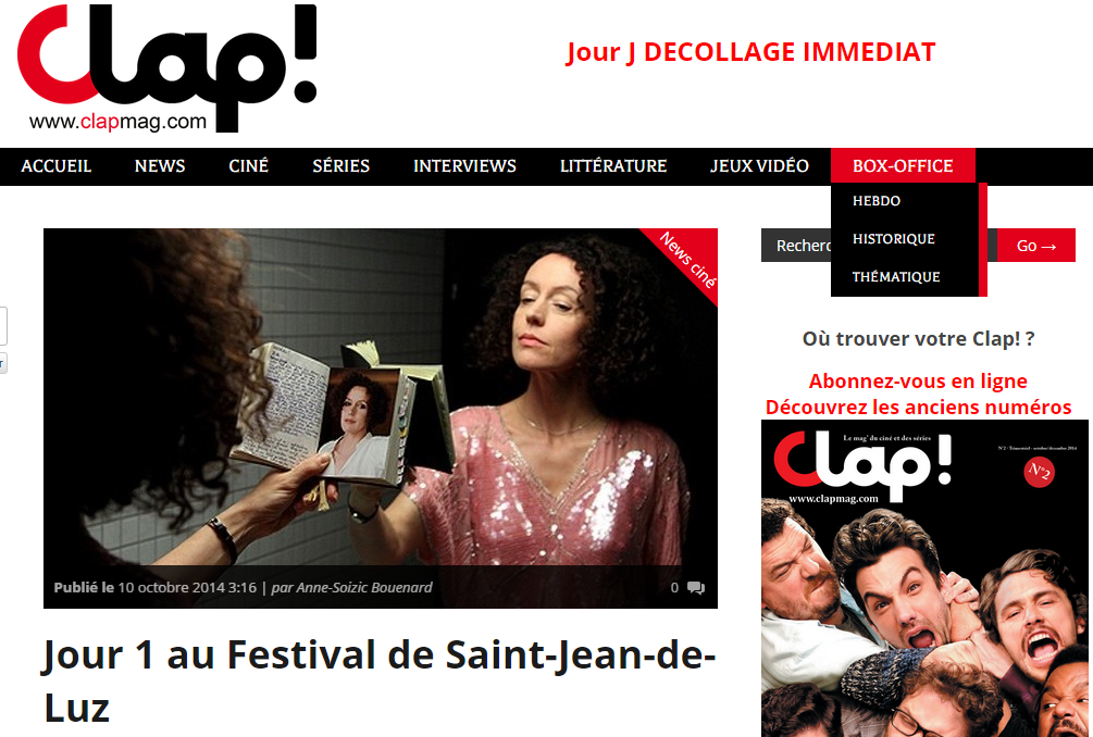 Clap mag - Jour 1