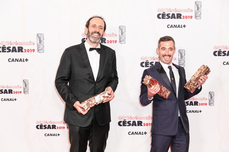 Le producteur Alexandre Gavras et le réalisateur Xavier Legrand © Marianne Barthelemy - ENS Louis Lumière pour l'Académie des César 2019