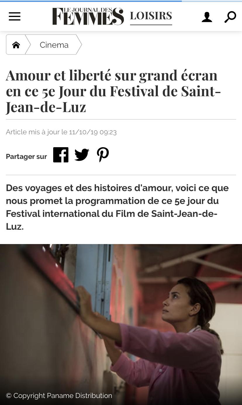 11-10-2019 LE JOURNAL DES FEMMES