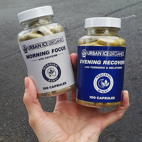 Evening Recovery Kratom Capsules - 100 Count