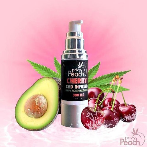 Privy Peach Hemp & Avocado CBD Infused Massage Oil