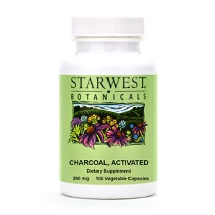Activated Charcoal Capsules - 100 Count