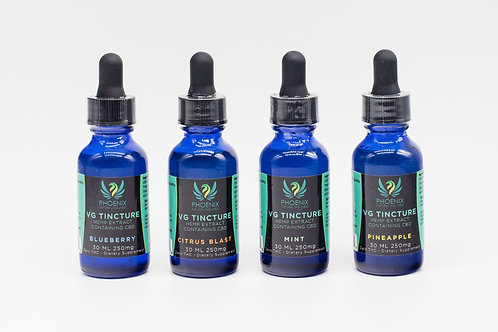 3 in 1 VG CBD Tincture - 250, 500 &1000 Mg