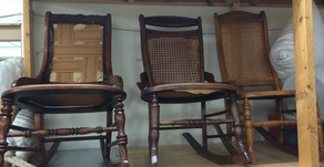 How Great Fabrics Change Old Rocking Chairs