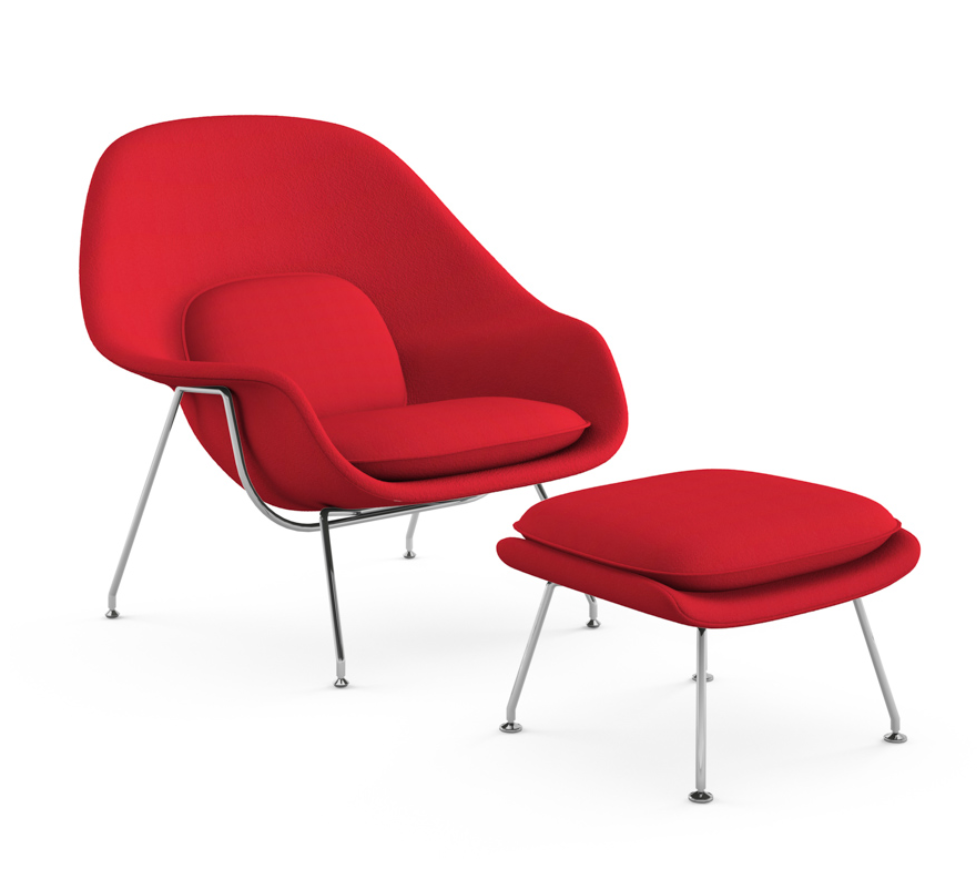 The Womb Chair by Eero Saarinen original produced by Knoll