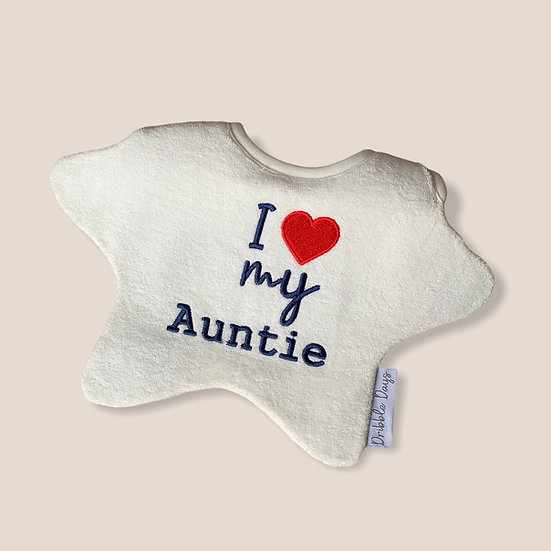 I love my auntie baby bib cut out