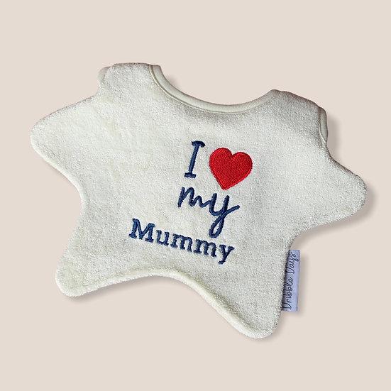 I love my Mummy Baby bib Cut Out
