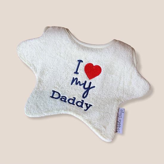 I Love My Daddy Baby Bib Cut Out