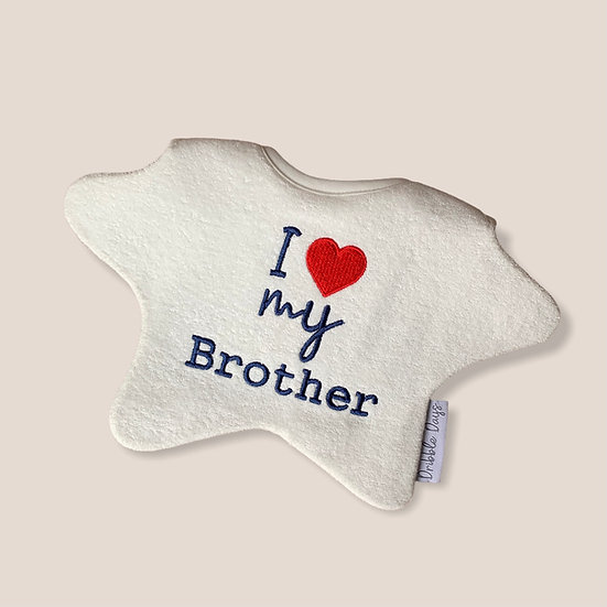 I love my brother baby bib cut out