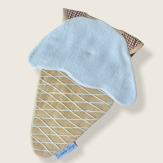 The Ice Cream shaped Baby bib cut out front view