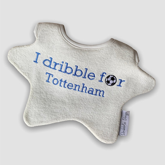I Dribble for Tottenham Baby Bib Cut Out