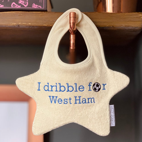 I Dribble For West Ham FC Bib Front View