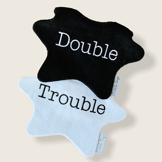 Dribble Days Double Trouble Baby Bib Cut Out