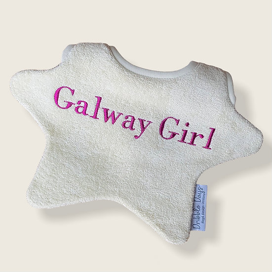 The Galway Girl Baby Bib Cut Out