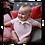 Baby wearing Pink Strawberry shaped bib