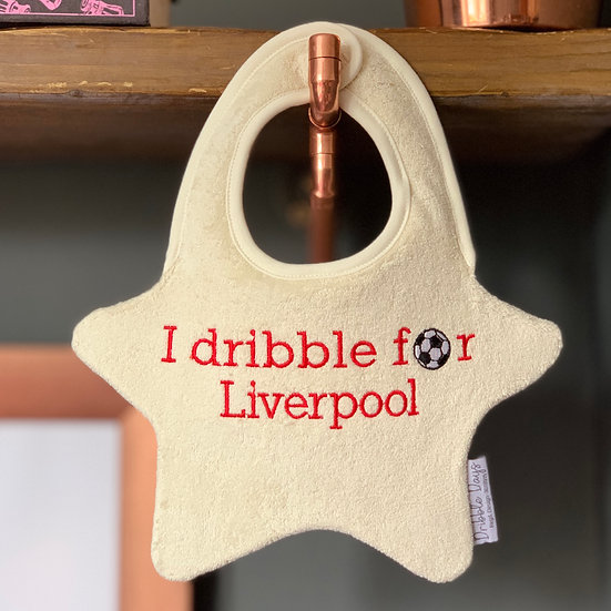 I Dribble For Liverpool FC Baby Bib Front View