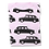 Pink Baby Tee with London Taxi Print Flat Lay