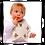 Baby wearing teddy bib