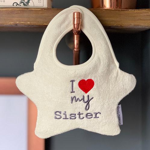 I love my sister bib