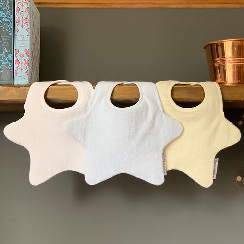 Trio Baby Bib Set for Boys Front View